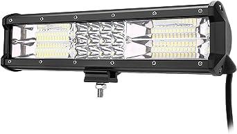 Aufun 15W LED Arbeitsscheinwerfer mit Magnetfu/ß 12V 24V Zusatzscheinwerfer Offroad Flutlicht IP67 900LM Quadrat Scheinwerfer f/ür Traktor ATV Auto R/ückfahrscheinwerfer SUV