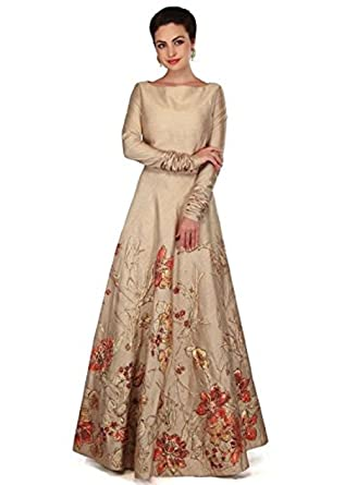 162ffd5664 Ethnic Vila taffeta Silk Embroidered Semi-Stitched Anarkali Gown | womens  party wear | Today preminum new gowns collection 2018 dress: Amazon.in:  Clothing & ...