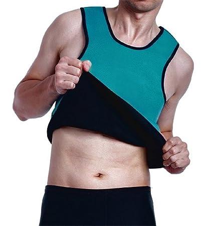 5962dc47d7 Men Waist Trainer Vest for Weightloss Hot Neoprene Corset Body Shaper  Zipper Sauna Tank Top Workout Shirt ...