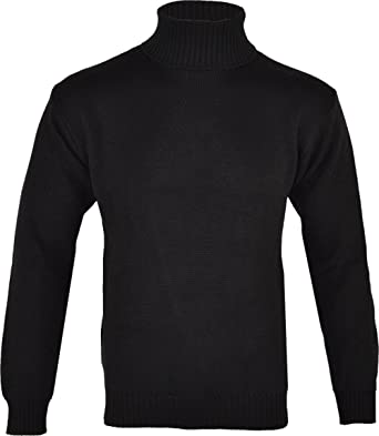 2bf06faa00033b Clothing Unit Mens Roll Neck Polo Knitted Jumper: Amazon.co.uk: Clothing