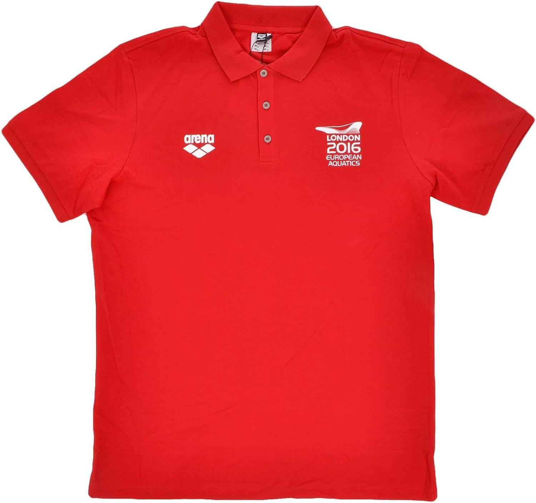 ARENA para Hombre Camiseta de Manga Corta Polo de natación, Color ...