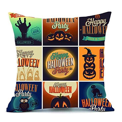 HomeMals Happy Halloween Pattern Office Pillow Pillowcase Sofa Cushion Cover Home Decor]()