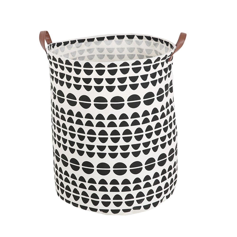 Julvie Heavy Duty and Durable Canvas Storage Laundry Hampers Baskets (Stripes)
