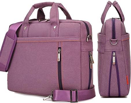 Purple 17.3 inch Laptop Messenger Bag Hand Shoulder Waterproof Nylon Briefcase