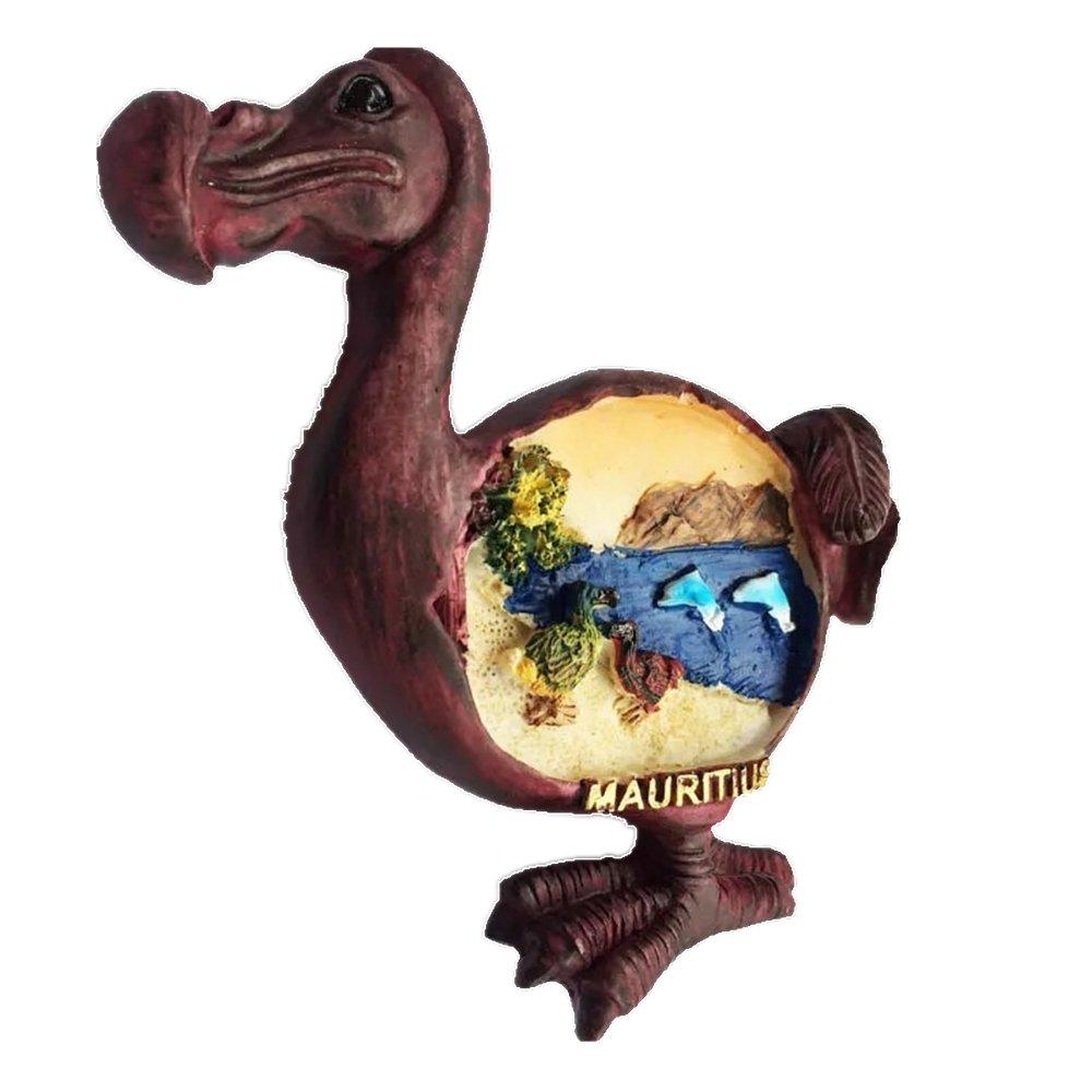 Bird Dodo Maurice Résine 3d solide Aimant de réfrigérateur souvenir Tourist Cadeau chinois Aimant fabriquée à la main Craft Creative Maison et décoration de cuisine magnétique Autocollant
