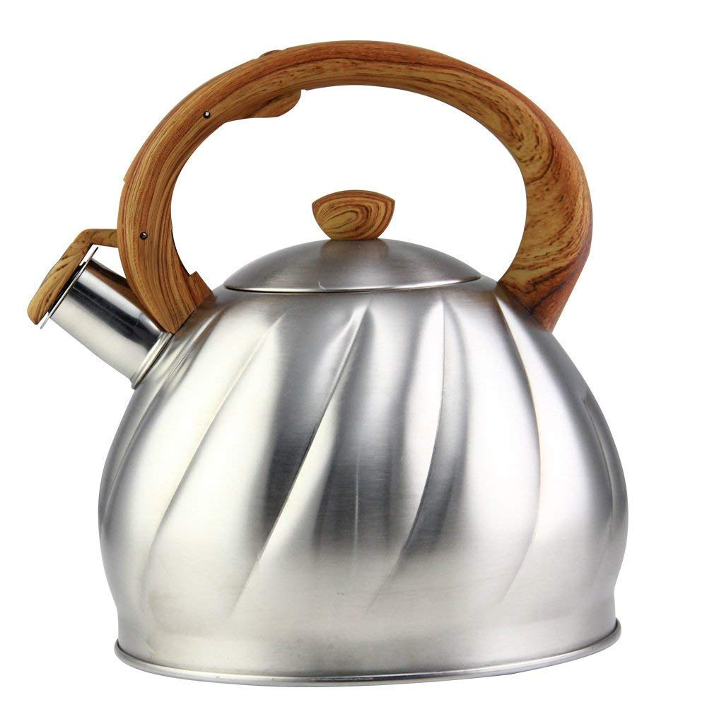 Riwendell Tea Kettle 2.1 Quart Whistling Stainless Steel Stove Top Teapot (GS-04044AHY-2.0 L)