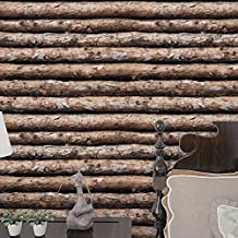 HaokHome 610863 Faux Wood Wallpaper Peel Stick Tree Trunks Log Cabin Wall Mural in Bathroom Kitchen Prepasted Contact Paper