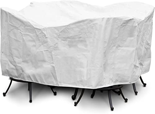 KoverRoos DuPont Tyvek 25251 Large Bar Set Cover with Umbrella Hole, 84-Inch Diameter by 40-Inch Height, White