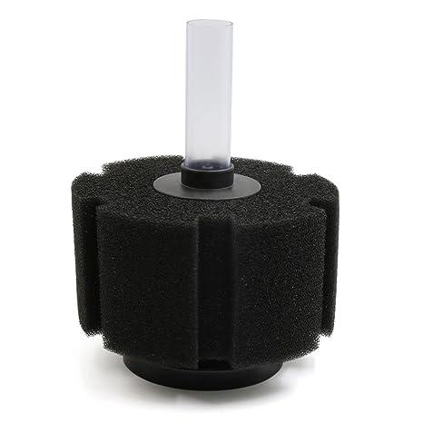sourcingmap Filtro Negro Cilindro Suave Bioquímico De Esponja Por Peces De Acuario Tanque Pecera