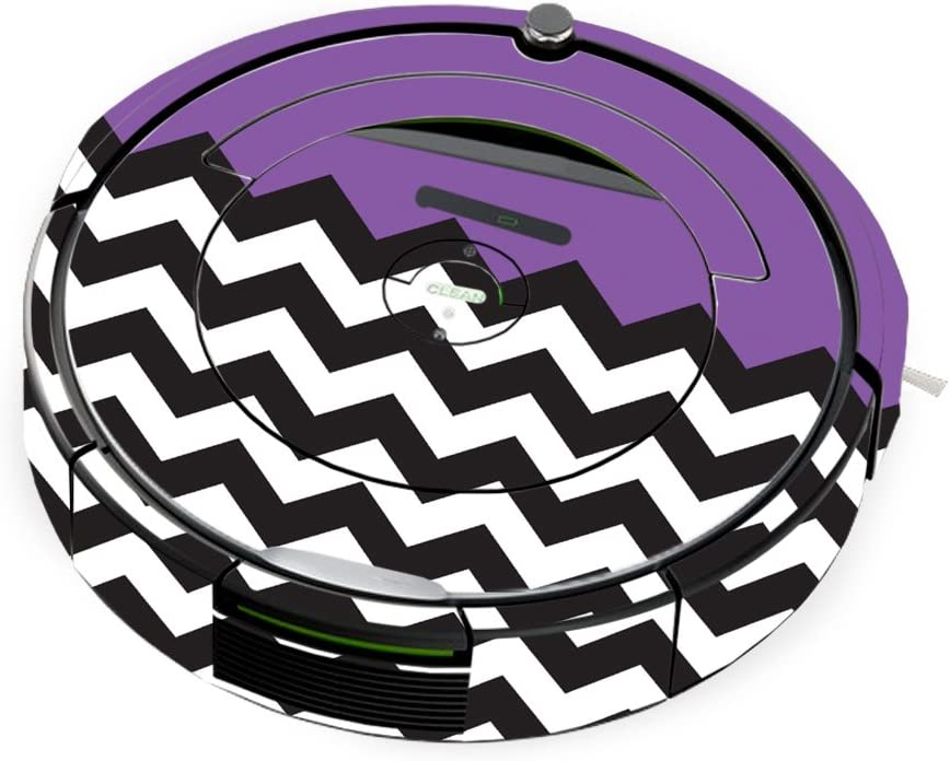 MightySkins Skin Compatible with iRobot Roomba 690 Robot Vacuum - Purple Chevron   Protective, Durable, and Unique Vinyl Decal wrap Cover   Easy to Apply, Remove, and Change Styles   Made in The USA