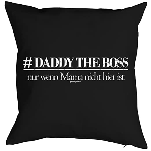 Almohada con diseño día del padre - Daddy The Boss, Solo SI ...