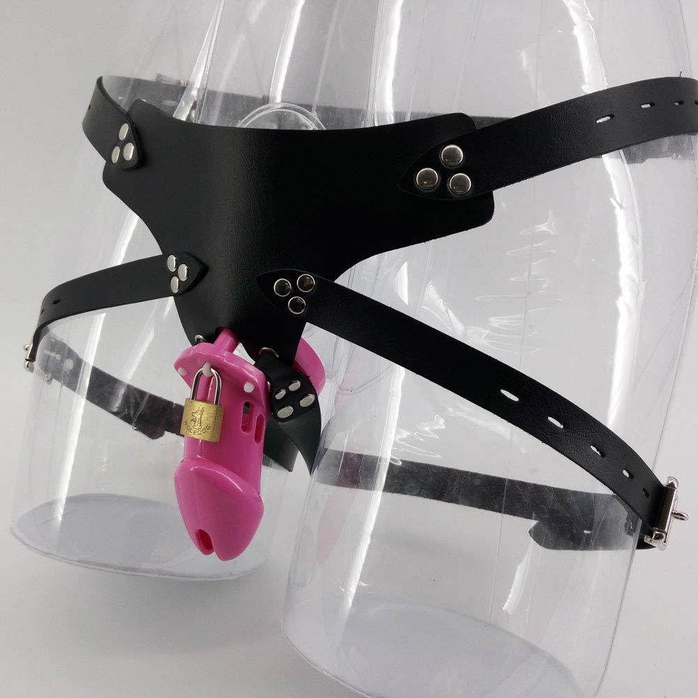 Q-HL Jaulas de pene Cinturones de de Cinturones castidad Pene Jaula BDSM Hombre Restringido Cinturón de castidad Fetish Pink Silicone Dispositivo de esclavitud Desgaste Usado Plástico Cock Cage 2fe844