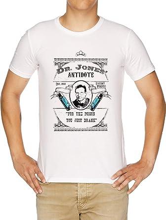 Dr Jones Antídoto- Indiana Jones Camiseta Hombre Blanco: Amazon.es: Ropa y accesorios