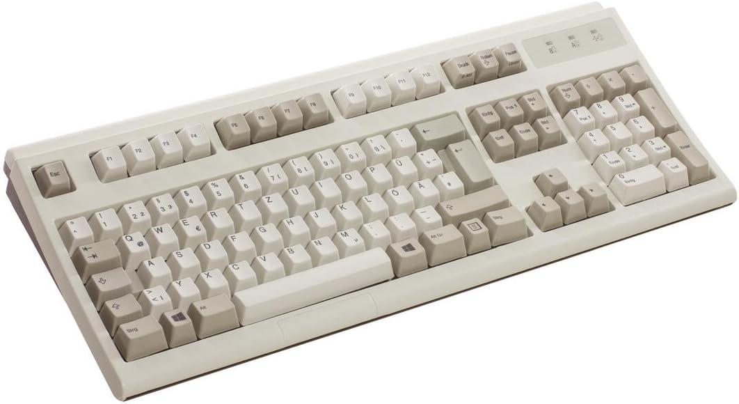 Teclado Buckling Spring Ultra Classic de color blanco, idioma del teclado: alemán