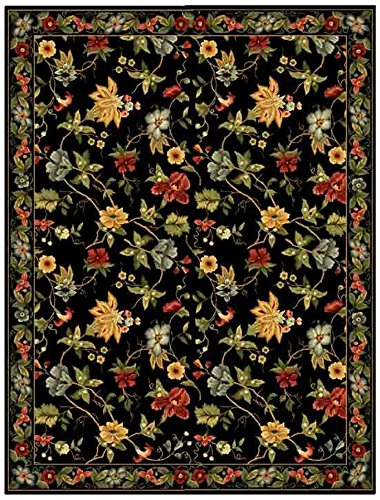 Chelsea Oval Rug (Safavieh Chelsea Collection HK311A Hand-Hooked Black Premium Wool Oval Area Rug (4'6