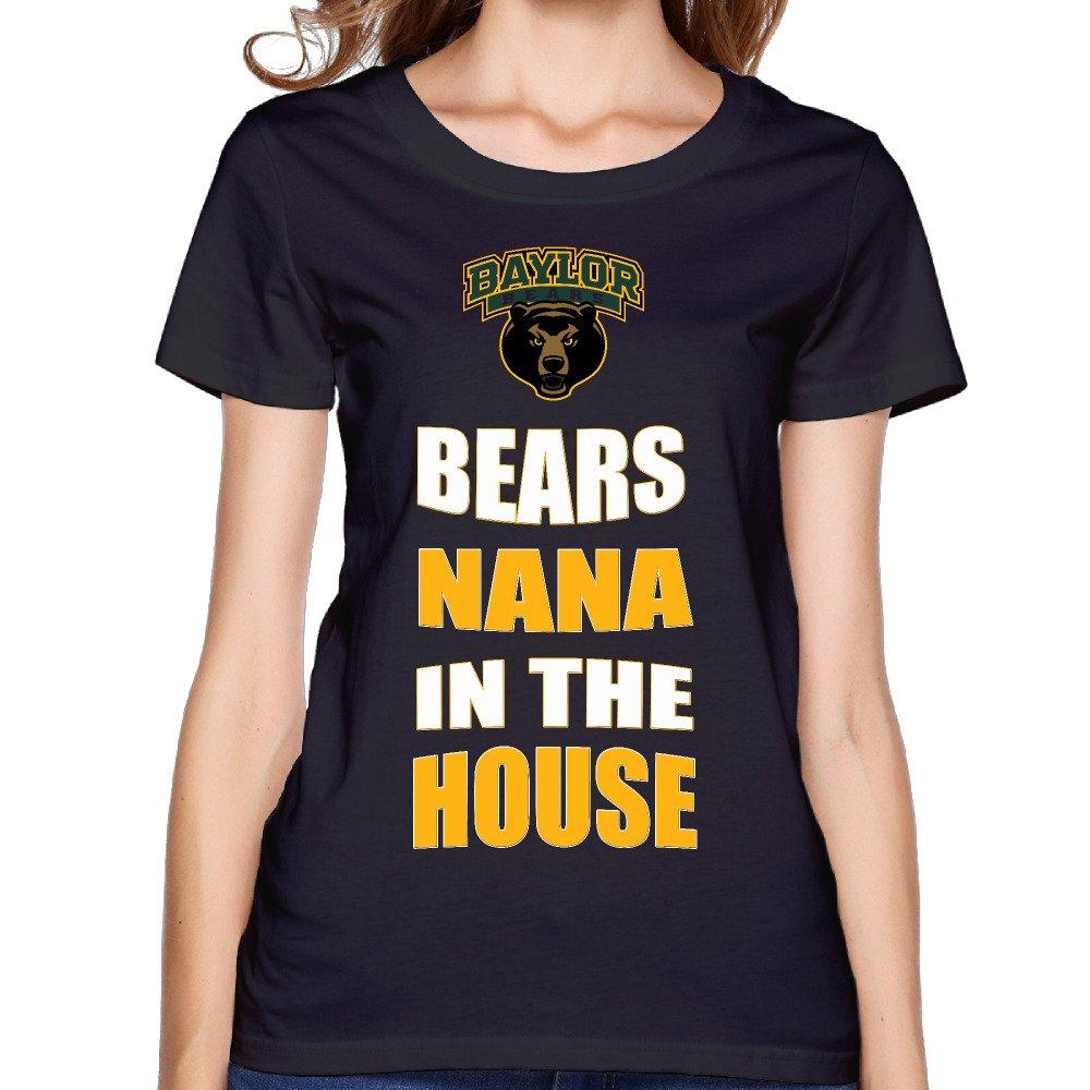 Zzyy New Style Baylor University Bears Nana In The House Short Sleeve Tees Play Round Neck Black Shirts