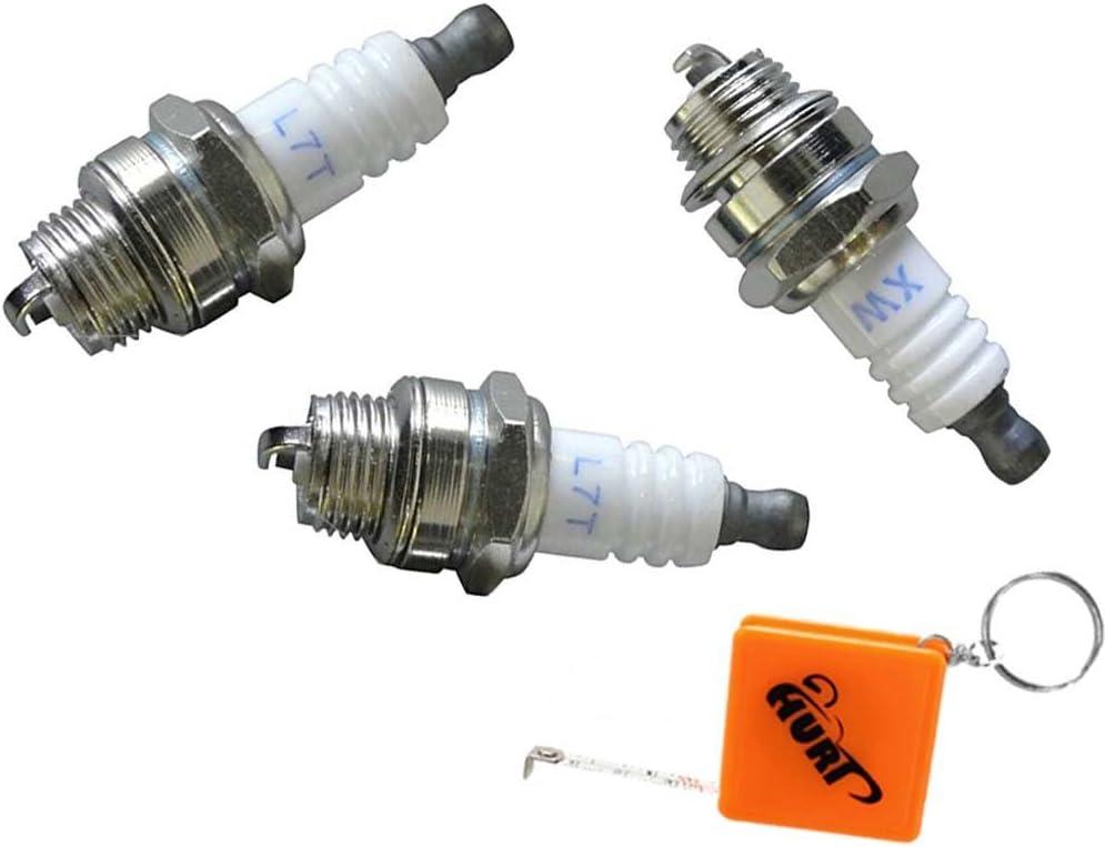 per pocketbike e crossbike Huri 3 candele di accensione per 49 cc miniquad Quad L7T