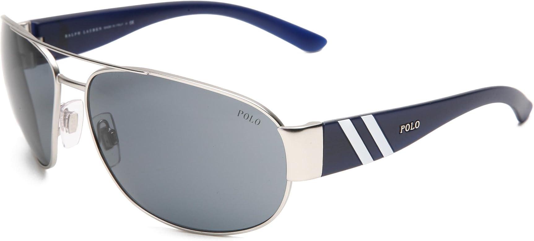 Ralph Lauren POLO 0PH3052 Gafas de sol, Matte Silver, 65 para ...