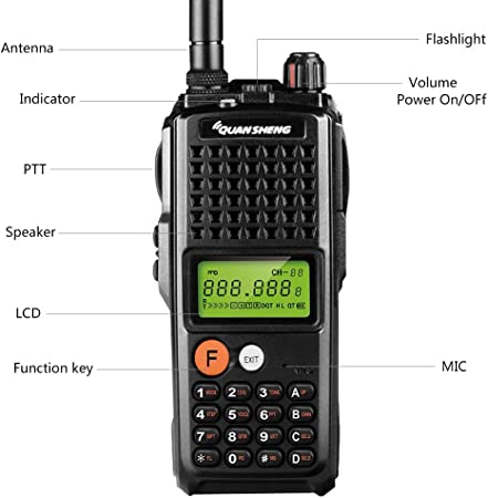 Quansheng K10AT 10-Watt Rechargeable Two-way Radios Long Range Walkie Talkies 400-470MHz UHF Ham Amateur Radio with 4000mAh Large Battery
