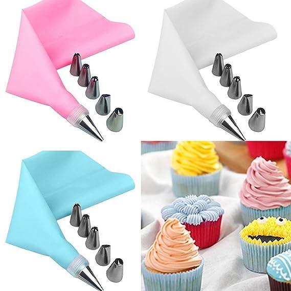 DIY Cake Tools,KOKOBUY 1Set Icing Piping Cream Pastry Bag DIY Cake Decorating Cake Tools Nozzle Set