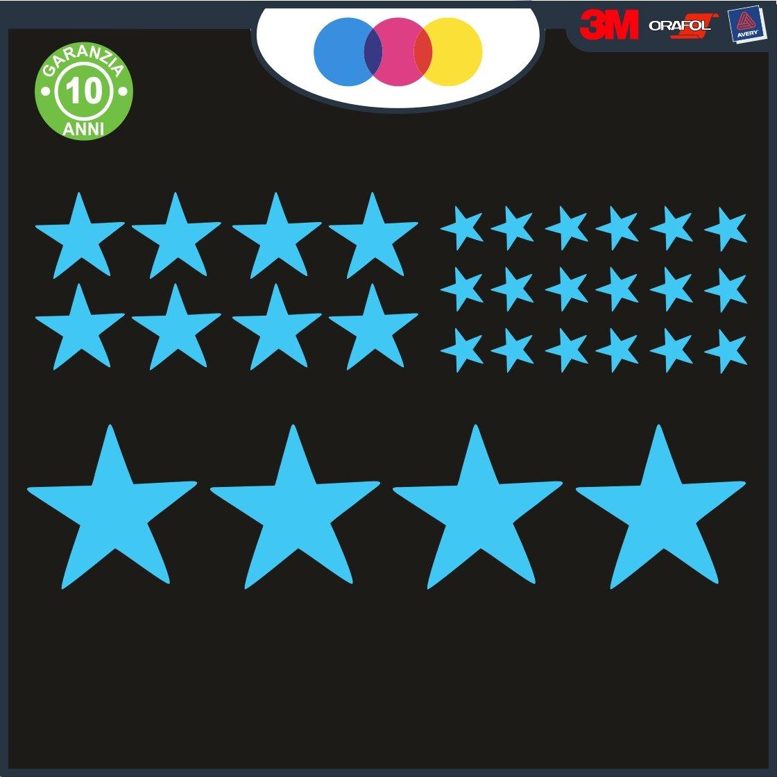 /Estrellas/ /Novedad Stickers Just Go Online S.l.u. Coche Moto Camper Pegatinas para Coche/ Decal Bianco /Estrellas/ /Coche m/áquina PC Notebook/