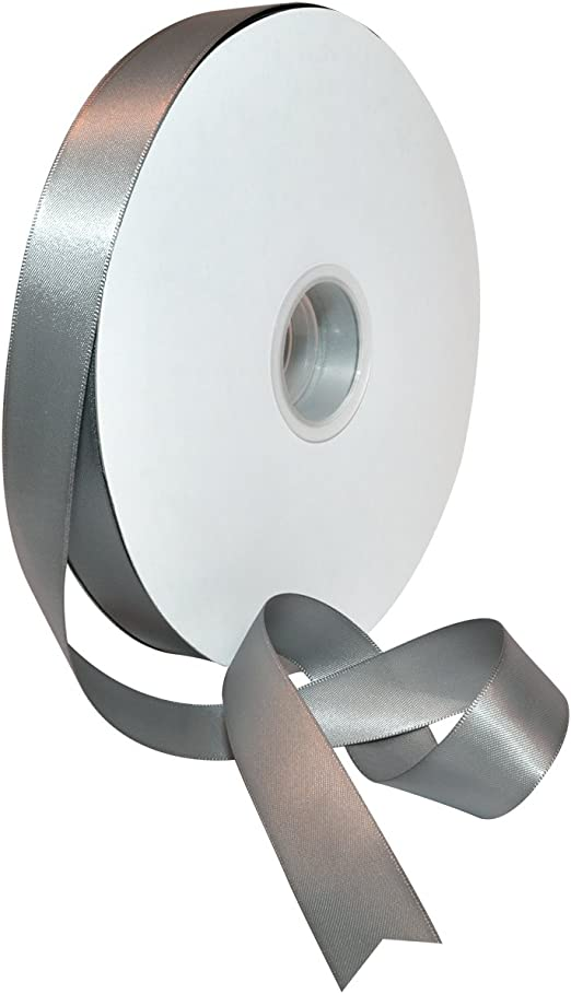 8 sizes 34 colors DOUBLE FACED SATIN Ribbon 50-100yards//Roll 100/% polyester
