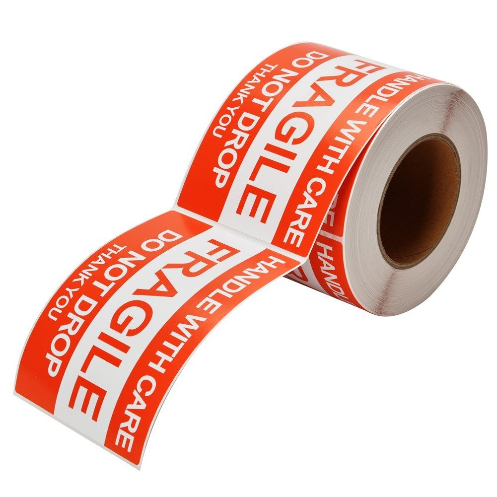 MFLABEL 4''x6'', Fragile Stickers, Do Not Drop Labels, Handle with Care Shipping Labels by MFLABEL (Image #3)
