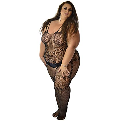 Uk 6 24 Sexy Crotchless Suit Body Stocking Tights Lingerie Corset One Plus Size