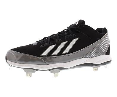 the latest 27cf3 c9424 Amazon.com   adidas Performance Men s PowerAlley Metal Low Baseball Cleat    Baseball   Softball