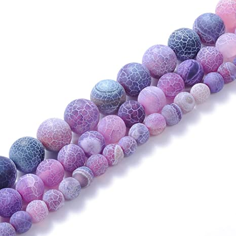 Yochus 6mm Amethysts Purple Crystal Energy Stone Round Loose Beads Natural Stone Beads for Jewelry Making