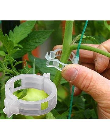 Somtis Clips de sujeción para Plantas, Soporte para Plantas, Clips de Flores y Verduras