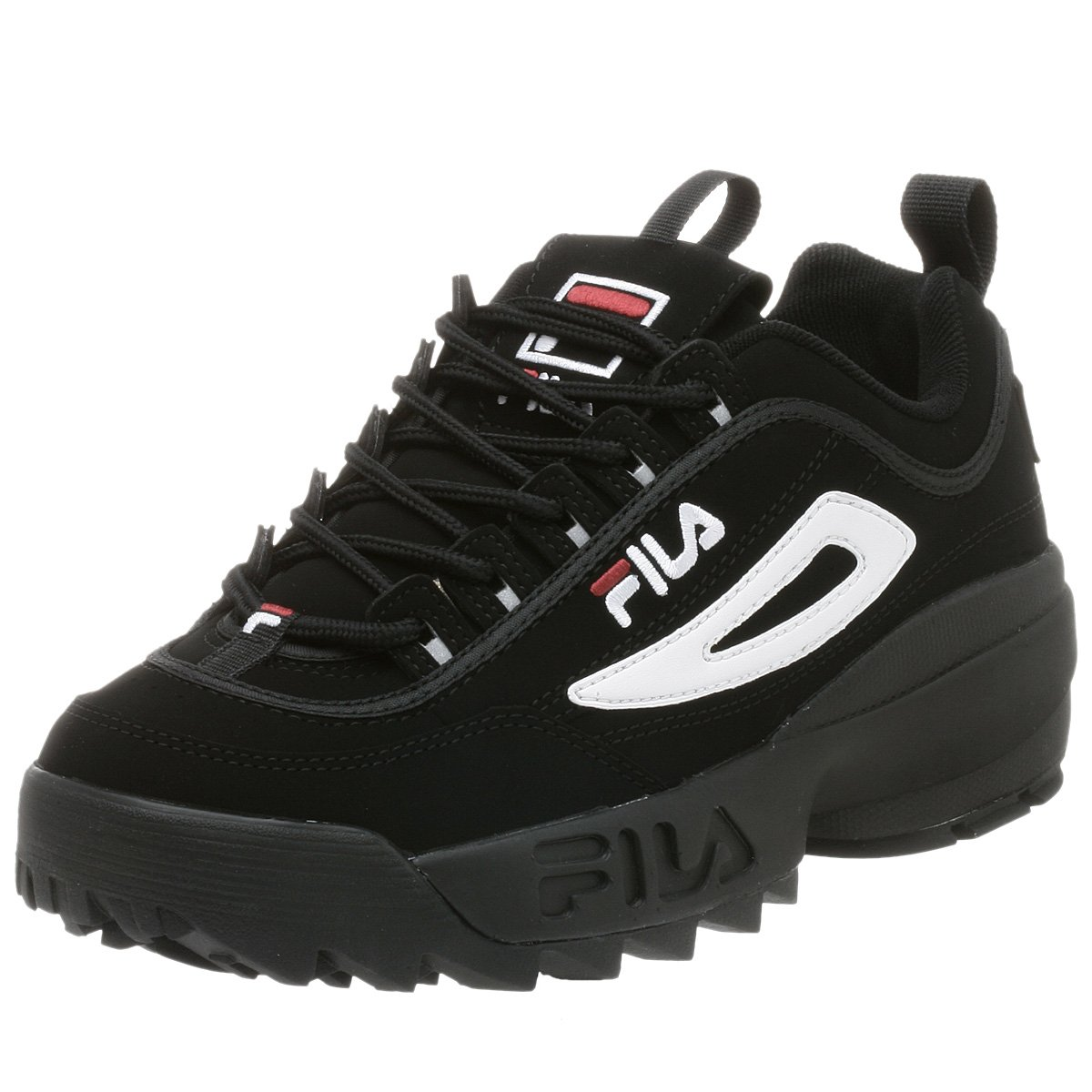 Black White Vin Red Fila Men's Disruptor II Sneaker