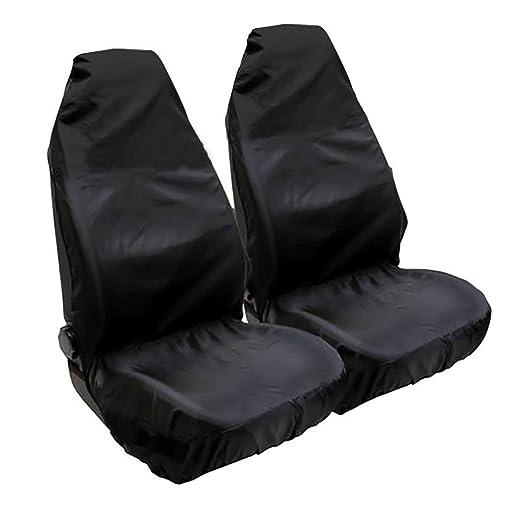 Cubierta de asiento de Coche de Nylon Impermeable Asiento Delantero Par Protector rojo adapta a todos los modelos