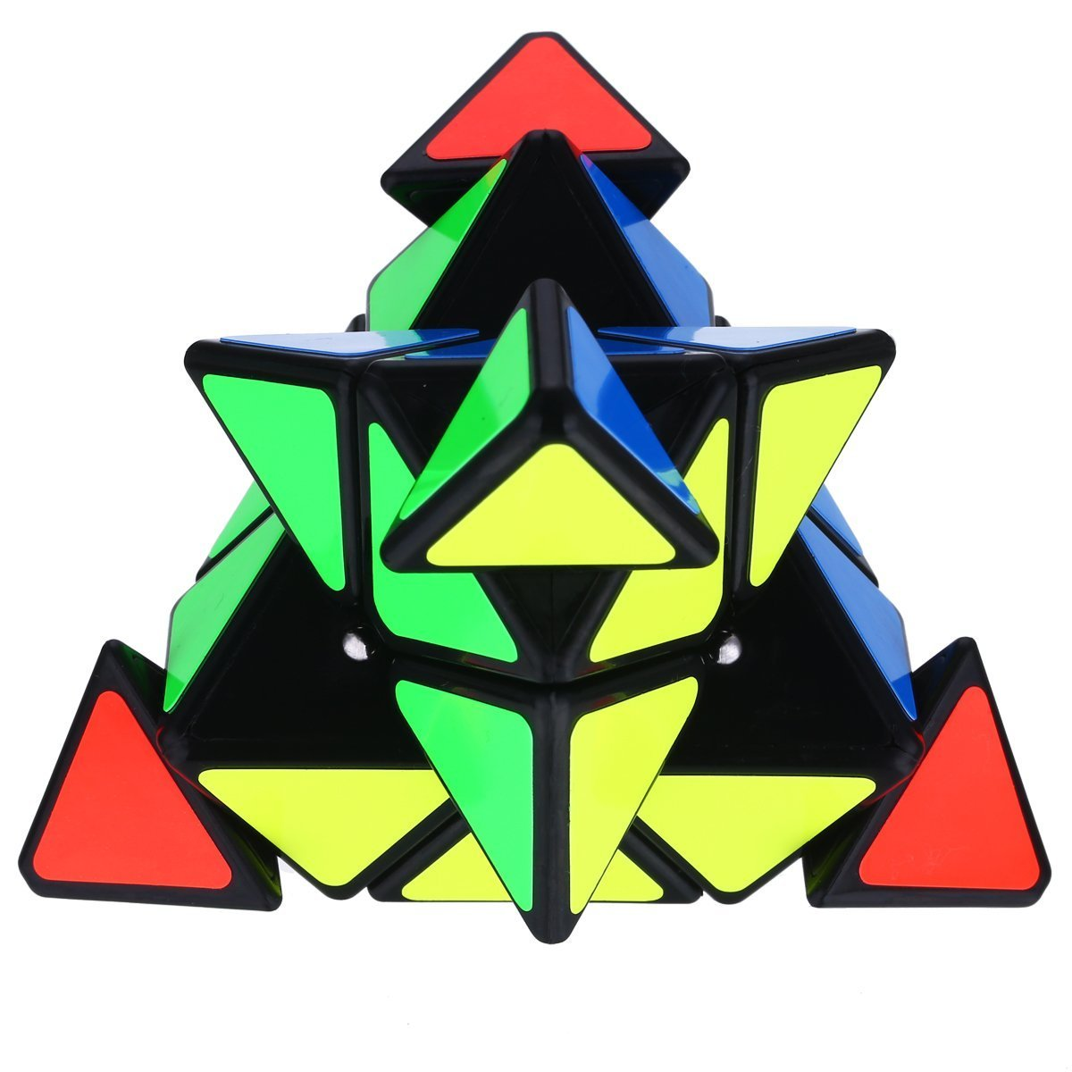 Aiduy Magic Cube,Triangle Pyraminx Pyramid Speed Cube Twist Toy Game Education For Children