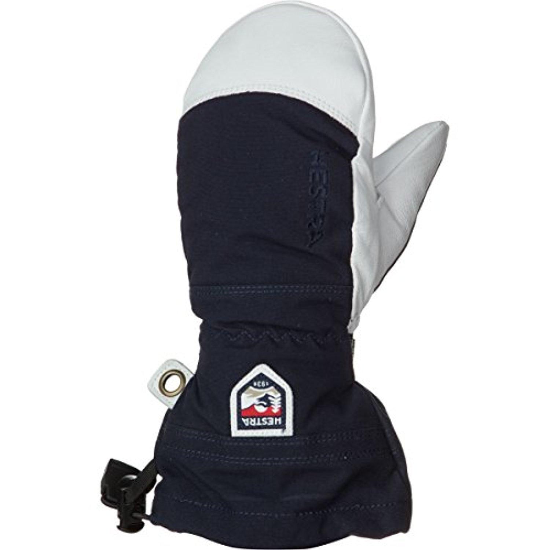 Hestra Youth Army Leather Heli Ski Jr. Mitts Navy 5 & Knit Cap Bundle by Hestra