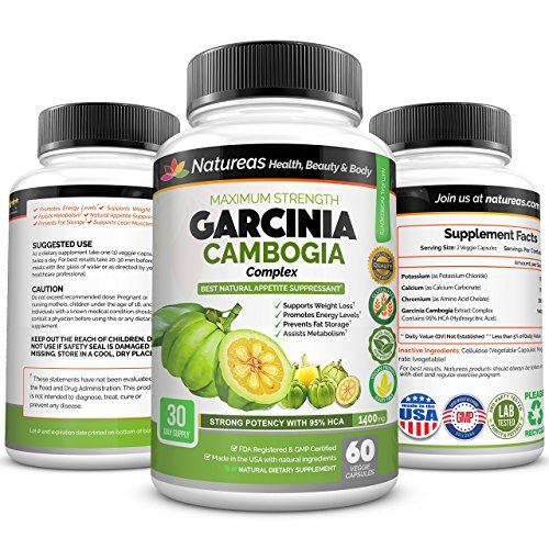 Garcinia Cambogia Extract. Highest Potency 95% HCA for Fast Weight Loss. Best Appetite Suppressant. Prevents Fat Storage & Block Fat. Pills Non-GMO, Dairy Free, Gluten Free. Best Garcinia Cambogia