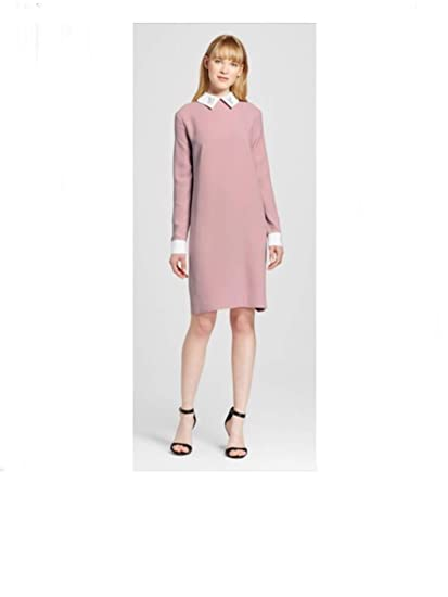 28c0356afabf Victoria Beckham Women s Shift Dress with Bunny Collar at Amazon Women s  Clothing store