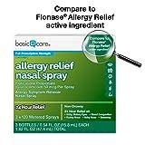 Basic Care 24-Hour Allergy Relief Nasal Spray, 3