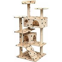 Festnight Rascador para Gatos Escalador para Gatos Beige