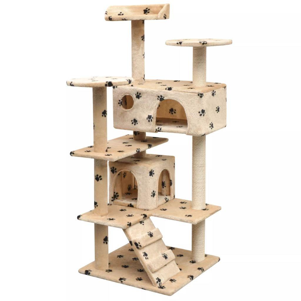 Festnight Rascador para Gatos Escalador para Gatos Beige: Amazon ...