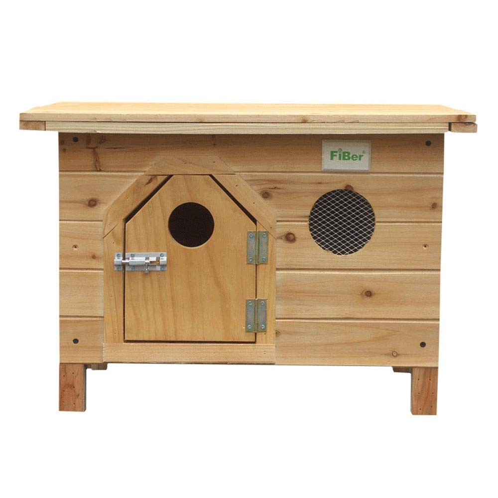 Log Deluxe Edition 674946cm Log Deluxe Edition 674946cm Xuoo Solid Wood Kennel Carbonized Solid Outdoor Dog House Indoor Flat Top Cat Litter Cage Pet Nest and Luxury Version of Log (with Door Single Window + Rain Cover Mat Cotton Pad)