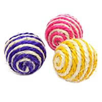 Cdet 3pcs Sisal Ball Safe Pet Chew Toy for Cat Rabbit Bats Hamster Kittens DIY Accessory Toy Pet Supplies