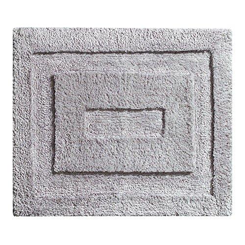 "Vanity Bathroom Contour (InterDesign Microfiber Spa Bathroom Accent Rug, 21"" x 17"", Gray)"