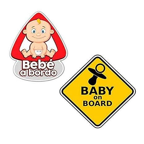 Paquete de 2 Pegatinas Bebé para Coche - Bebé a Bordo, Baby ...