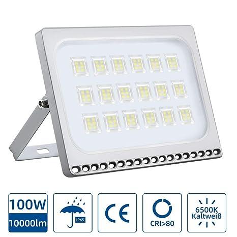 Foco Proyector LED 100W 10000LM para Exteriores, luz de Seguridad ...