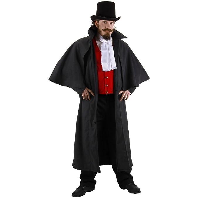 Victorian Men's Costumes: Mad Hatter, Rhet Butler, Willy Wonka Inverness Jacket Adult Costume Size Standard $72.99 AT vintagedancer.com