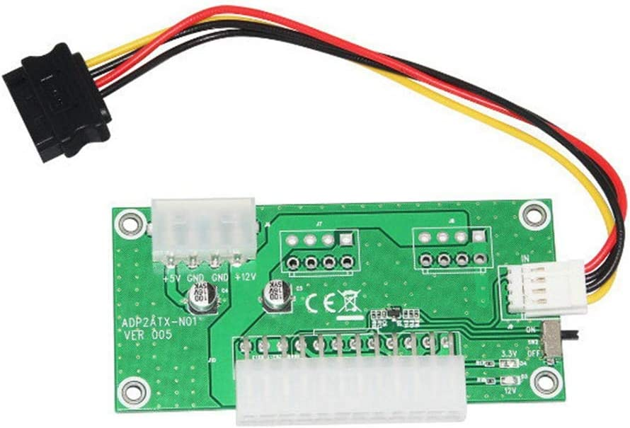 Computer Cables 24PIN Power Line Starter Pinboard Adapter Board 4PIN//SATA Detection line Cable Length: with SATA Cable