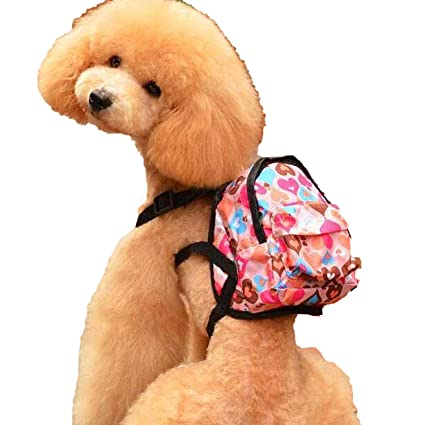 Cartoon Cute Dog Backpack Canvas Multicolor Pet Dog Carrier Bags Puppy School Bag Chest Backpack Dogs