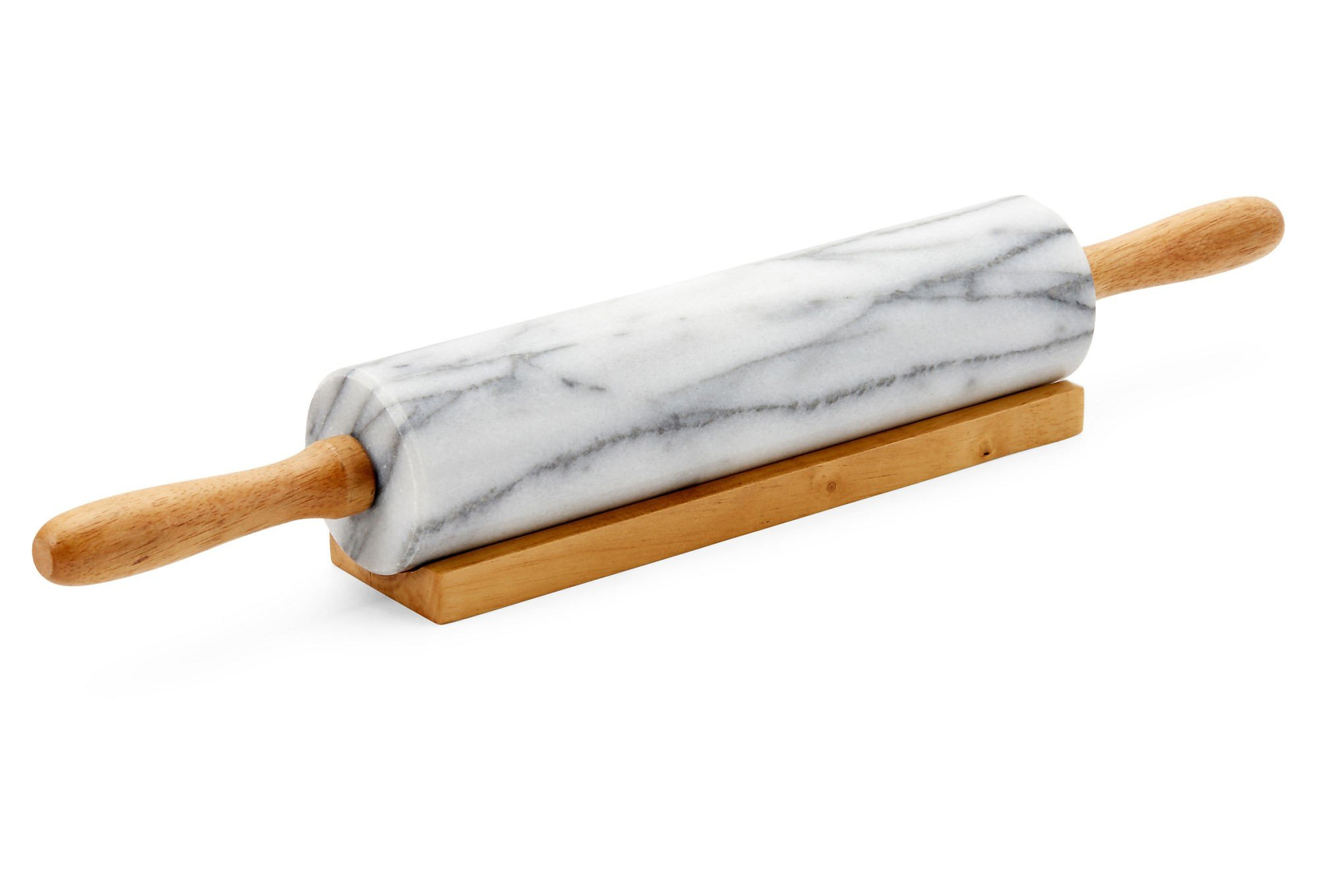 Kitchen Collection Marble Rolling Pin 01226-White by KITCHEN COLLECTION