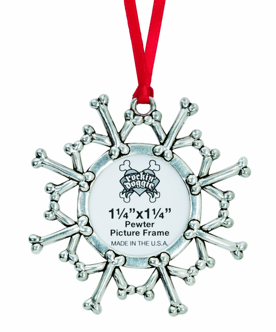 rockin' doggie Pewter Ornament, Snowflake/Picture rockin' doggie 844587015947